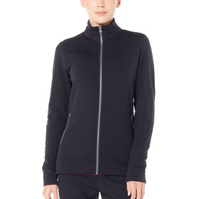 Icebreaker Dia LS Zip Jacket Women black